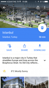 One Day in Istanbul Google Maps Offline