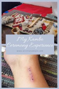 My Kambo Ceremony Experience