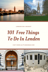 101 Free Things To Do in London
