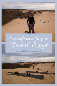 Where & How To Go Sandboarding in Dahab, Sinai, Egypt