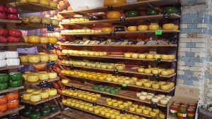 Sampling Cheese in Amsterdam