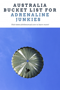 OMG - I want to try all of these activities. The perfect bucket list for adrenaline junkies going to Australia indeed!