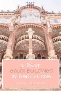 Barcelona Bucket List: Discover the most beautiful Gaudi buildings in Barcelona: Stunning photos and brief histories of his famous architectural masterpieces - and some hidden gems.