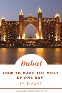 PERFECT ITINERARY FOR One Day in Dubai