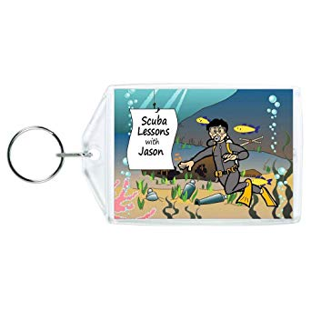Personalized Scuba Diving Key Chain or Luggage Tag