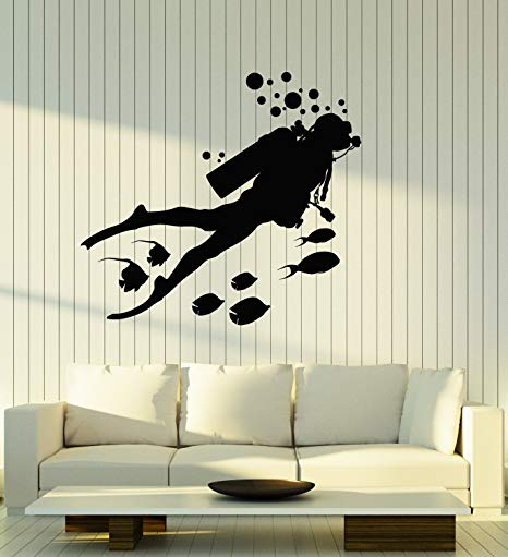 Vinyl Wall Decal Scuba Diving  Stickers