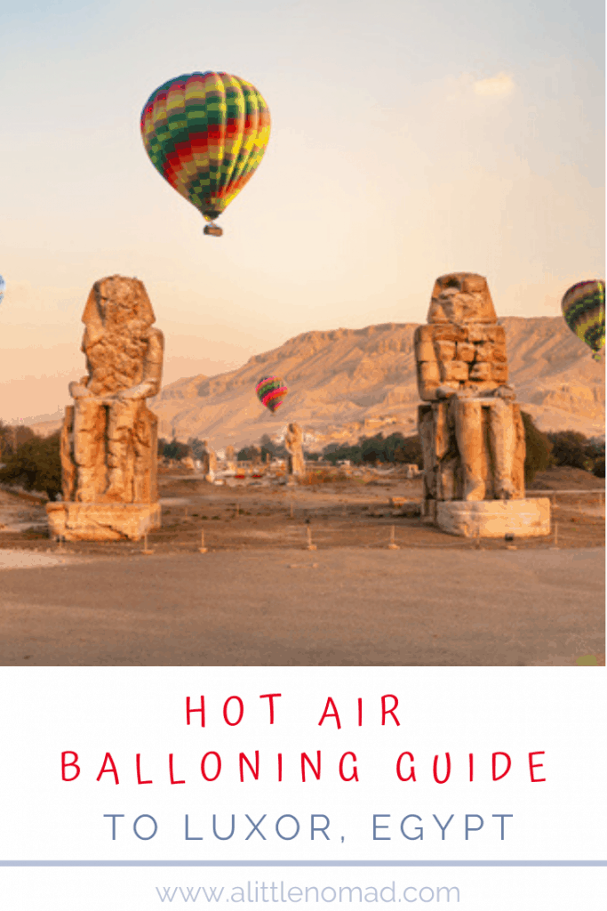 HOT AIR BALLOON RIDE IN LUXOR EGYPT Everything you need to know about Hot Air Ballooning in Luxor: Prices, Safety, Best Time, Tips & Tricks etc. Plus Inspiring Photos & Videos!